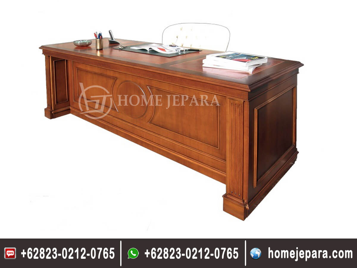 Set Meja Kantor Minimalis Kayu Jati TFR - 0547