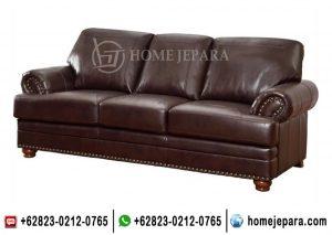 Bangku Sofa Klasik Brown TFR – 0662