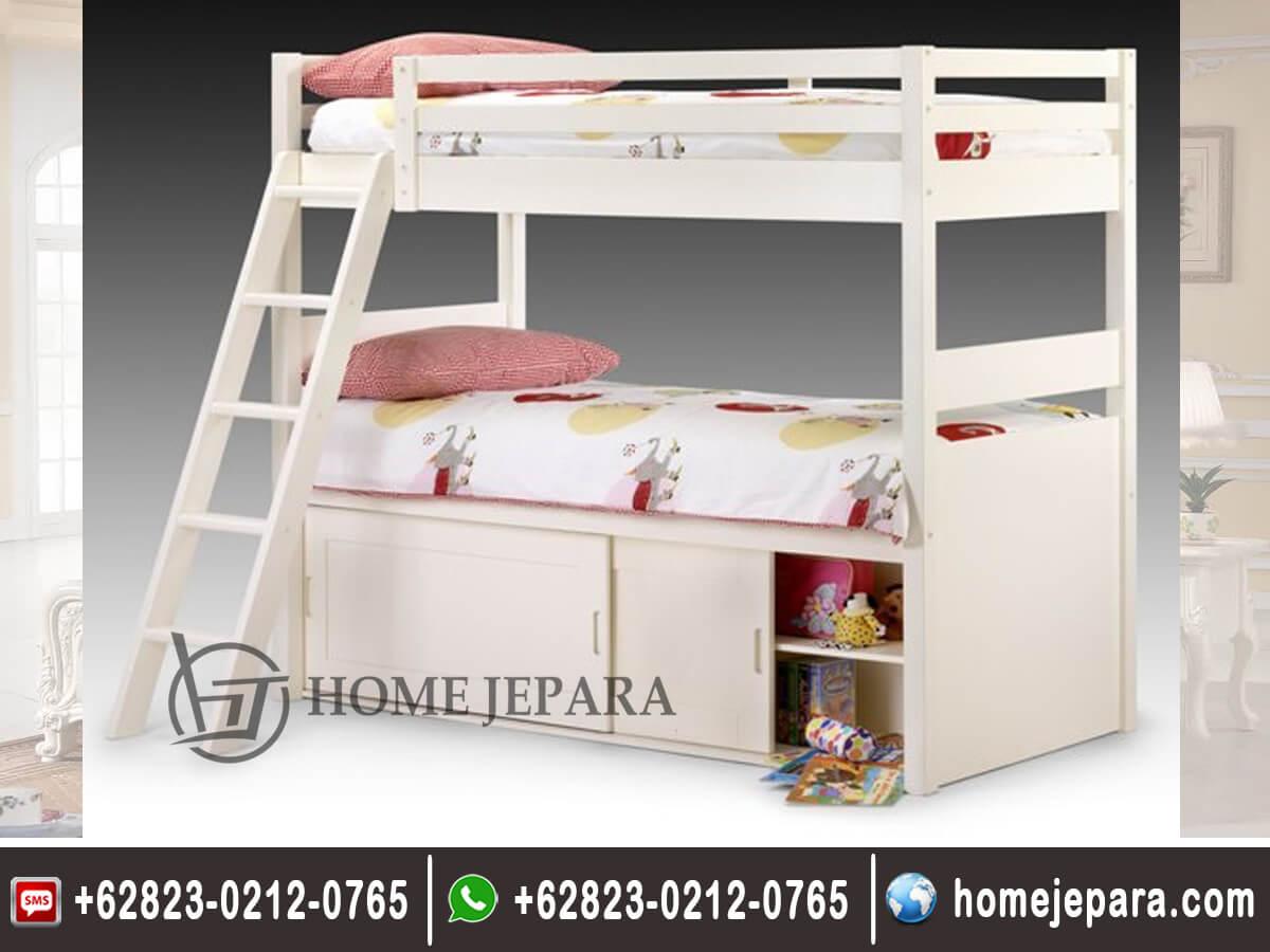 Tempat Tidur Tingkat Duco Putih TFR - 0551