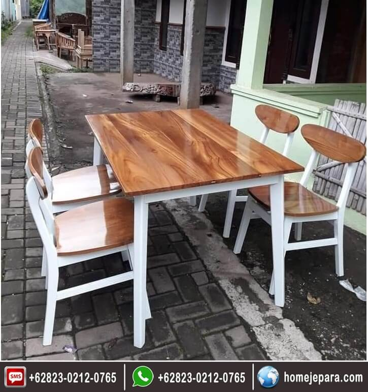 Kursi Makan cafe jati Jepara TFR - 0678