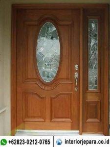 Pintu Jati Kaca Oval TFR – 0698