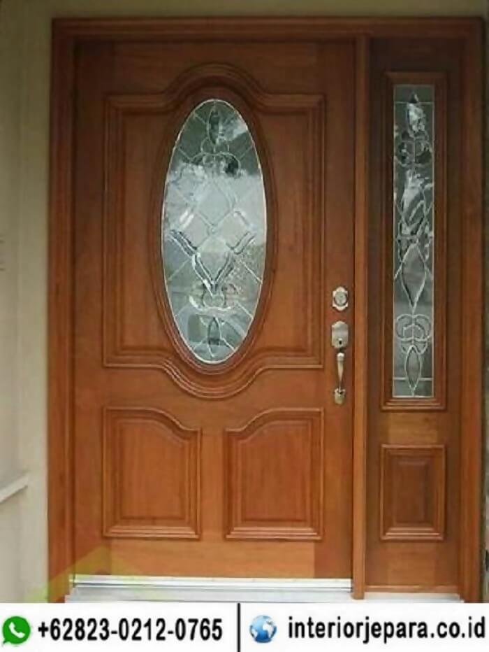 Pintu Jati Kaca Oval TFR - 0698