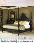 tempat tidur ukiran jepara kelambu TFR – 0713
