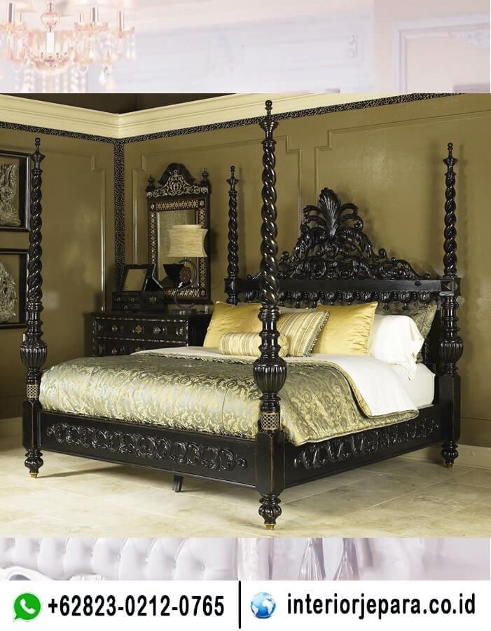 tempat tidur ukiran jepara kelambu TFR - 0713