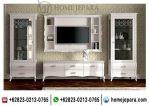 Set Buffet TV Almari Pajangan Duco Putih TFR – 0473